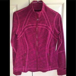 🍒LULULEMON sz 10 DEFINE Jacket PINK Jeweled Magenta Jacquard - HTF SIZE!!
